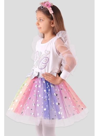 Breeze Kız Çocuk Tütü Etek Yıldızlı Gri (6-14 Yaş) Gri
